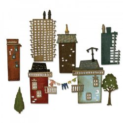 661811 Sizzix Thinlits Die Set 34PK - Cityscape, Suburbia by Tim Holtz